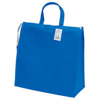 不織布ポケットポートバッグ(ブルー) 90388022 1セット(10枚) 丸玉工業(直送品)