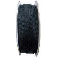 綿ロープ(黒) 3mmΦX300m ドラム巻 M3-300BK-R まつうら工業(直送品)
