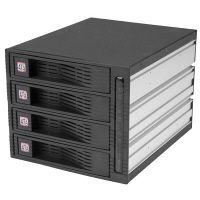 StarTech 4x 3.5インチHDD用モバイルラック リムーバブルケース不要 ホットスワップ対応 HSB430SATBK 1個