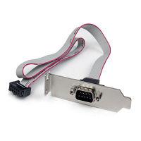 StarTech.com ロープロファイル対応スロットカバー付きシリアルケーブル PLATE9M16LP(直送品)