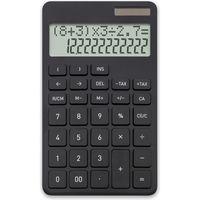 計算式表示電卓 ブラック C1242BK 2個セット(直送品)