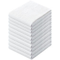 テンダイ 多用途ショートタオル ホワイト 1パック(10枚入)【28×60cm】【小型・薄手】