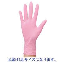 ファーストレイト ニトリル手袋 (粉なし) ピンク L 1箱(100枚)