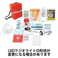 c9aa2fbba656 防災セット ヘルメット付き避難セット 18点入 ALE-31 1セット 角利