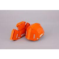 トーヨーセフティー 防災用折りたたみヘルメット ブルーム2 No.101 オレンジ 1セット(10個)