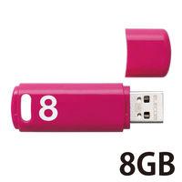 USB3.0 8GB キャップ式 ベーシックパス ピンク