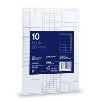 アスクル マルチプリンタラベル(粘着ラベル) 高白色・厚口タイプ ハイグレード 10面 20枚