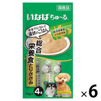 いなば 犬用 ちゅーる 総合栄養食 とりささみ 国産(14g×4本) 6袋