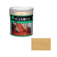 アサヒペン 水性ユカ用ニス 1.6L 半ツヤ透明 9010432(直送品)