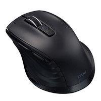 ナカバヤシ F_line Bluetooth静音5ボタンBlueLEDマウス Mサイズ ブラック MUS-BKF146BK 1個 (直送品)