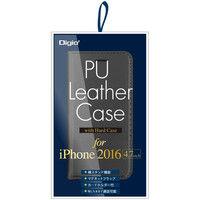ナカバヤシ iPhone 7用 PUレザーケース ハードケース付 ブラック SMC-IP1602BK 1個 (直送品)