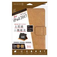 ナカバヤシ iPad9.7インチ用PUレザーカバー キャメル TBC-IPS1708CA 1個 (直送品)