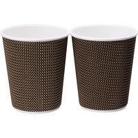 リップルラップカップ 8オンス 1セット(120個:24個入×5袋)ストリックスデザイン 紙コップ