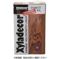 武田薬品工業 キシラデコール 4L 103チーク 4987123743013 1セット(8000mL:4000mL×2缶)(直送品)