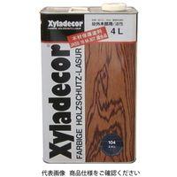 武田薬品工業 キシラデコール 4L 104エボニ 4987123743020 1セット(8000mL:4000mL×2缶)(直送品)