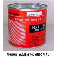 アトムサポート(アトムハウスペイント) オキツモ 200g #11黒 4971544600543 1セット(2400g:200g×12缶)(直送品)