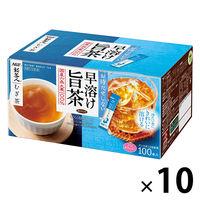 【水出し可】味の素AGF 「新茶人」早溶け旨茶 むぎ茶スティック 1ケース(1000本:100本入×10箱)