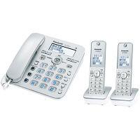 パナソニック コードレス電話機(子機2台付き)(シルバー) VE-GD36DW-S 1台  (直送品)