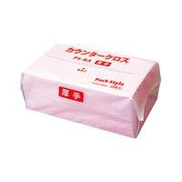 パックスタイル PSカウンタークロス 厚 桃 レギュラー 00520390 1包:540枚(60×9)(直送品)