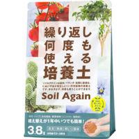 【園芸用品】中島商事 トヨチュー ソイルアゲイン 繰り返し何度でも使える培養土 3.8L 1箱(10袋入)(取寄品)