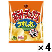 湖池屋 ポテトチップス うすしお味 1セット(4袋入)