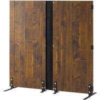 朝日木材加工 木製パーティション Lフォルムシリーズ ブラウン 幅1200×奥行425×高さ1203mm LFM-1212PA-DB 1台 (直送品)