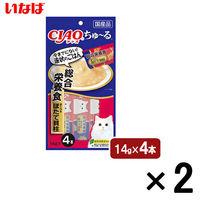 いなば CIAO ちゅーる 猫用 総合栄養食 まぐろ&ほたて貝柱 国産(14g×4本)2袋 <ちゅ~る>