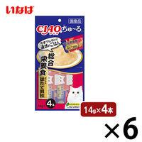 いなば CIAO ちゅーる 猫用 総合栄養食 まぐろ&ほたて貝柱 国産(14g×4本)6袋 <ちゅ~る>