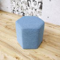 後藤家具物産 六角形カラースツール ST-09lbl ライトブルー 1脚(直送品)