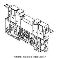 CKD(シーケーディー) 電磁弁付3ポートバルブブロック 個別配線ブロックマニホールド(ベース配管)用 N4GB210R-C8-E23J-3 (直送品)