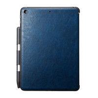 サンワサプライ iPad9.7インチケース Apple Pencil収納ポケット付き PDA-IPAD1014BL 1個 (直送品)