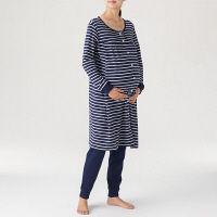 1560fd10b333f ... 無印良品 脇に縫い目のないソフトスムース授乳に便利な長袖パジャマ(