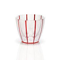 <LOHACO>【アウトレット】鳴海製陶 冷酒杯(レッド)色被せ ストライプ GW6058-226RD 1個画像