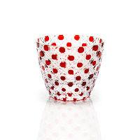 <LOHACO>【アウトレット】鳴海製陶 冷酒杯(レッド)色被せ カゴメ GW6062-226RD 1個画像