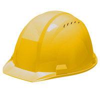 DICプラスチック ABS製ヘルメット A01-V ベンチレーション/ライナー無/内装HA1 黄 1個(直送品)