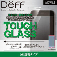 Deff TOUGH GLASS for iPhone 8 フチなし透明 通常 DG-IP7SG3PF 1個 (直送品)