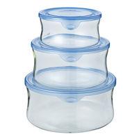 耐熱ガラス製保存容器パック&レンジ3点