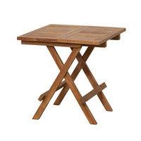 <LOHACO> 関家具 チークテーブル 折りたたみ式 奥行500×幅500×高さ505mm 26099 1台 (直送品)画像