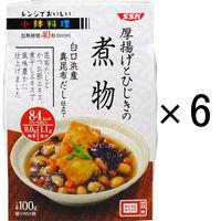 SSKセールス レンジでおいしい!小鉢料理 厚揚げとひじきの煮物 100g 1セット(6個)