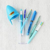 LOHACO限定ボールペンセット BLUE(4色ボールペン+単色ボールペン4種+蛍光ペン) BASTBLU-L6P BICジャパン