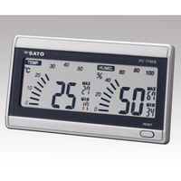 佐藤計量器製作所 デジタル温湿度計 PC-7700II 校正成績書付 61-9437-90 1式 (直送品)