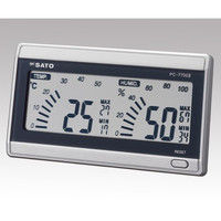 佐藤計量器製作所 デジタル温湿度計 PC-7700II 校正成績書+校正証明書 61-9437-91 1式 (直送品)