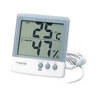佐藤計量器製作所 デジタル温湿度計 PC-5000TRH-II 校正成績書付 61-9438-01 1式 (直送品)