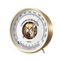 佐藤計量器製作所 アネロイド気圧計温度計付 校正成績書+校正証明書 61-9438-56 1式 (直送品)