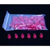 イーサプライズ(e-supplies) NMRサンプルチューブキャップ・赤 61-8558-41 1パック(100個) (直送品)