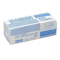 トーヨ クリーンテックス エコノミーW 40束 000942 1箱(8000枚) 61-0085-07 (直送品)