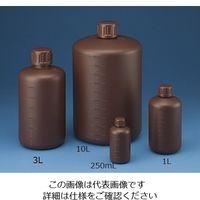 ニッコー・ハンセン 広口 丸型 遮光 瓶500ml(茶) セットなし 10-3203-55 1本(1個)(直送品)