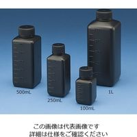 ニッコー Jボトル角型 細口 遮光 500ml 15-6003-55 1本(1個) (直送品)