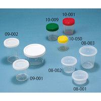 サンセイ医療器材 滅菌スクリューコップ 100mL (赤キャップ) 10-001 1ケース(200個) 62-6282-32 (直送品)