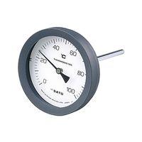 佐藤計量器製作所 バイメタル式温度計 BM-T-100P 2080-02 0〜50℃ 50mm 1セット 61-0096-20 (直送品)